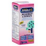 Benadryl Allergy & Sinus, Grape Flavored