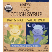 Maty's Cough Syrup, Baby, Day & Night Value Pack