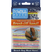 Powder Pouch Sand Removal Pouch, Summer Stripes Edition