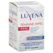 Luvena Feminine Wipes, Anti-Itch, Medicated