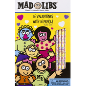 Mad Libs Valentines With Pencils, Plural Noun, 3+
