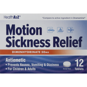 HealthA2Z Motion Sickness Relief, Tablets