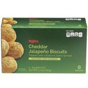 Hy-Vee Cheddar Jalapeno Biscuits Topped With A Butter & Garlic Spread