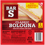 Bar-S Classic Bologna Sliced Deli-Style Lunch Meat