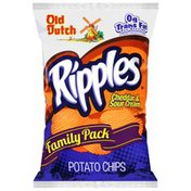 Old Dutch Family Pack Cheddar Cheese And Sour Cream Ripples Chips