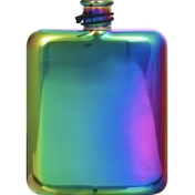 Kitchen & Table Hip Flask, Stainless Steel & Rainbow, 6 Ounce