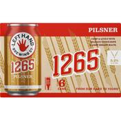 Left Hand Brewing Beer, Pilsner, 1265