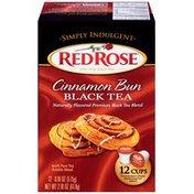 Red Rose Simply Indulgent Cinnamon Bun Black Single Serve Tea