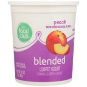 Food Club Peach Blended Lowfat Yogurt
