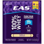 EAS Vanilla EAS 100% Whey Protein Shake Vanilla Powder Powder Packs
