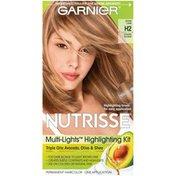 Nutrisse® PERMANENT HAIRCOLOR Multi-Lights Highlighting Kit, SUGAR CANE GOLDEN BLONDE H2