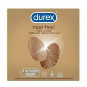 Durex® Real Feel Avanti Bare Polyisoprene Non-Latex Condoms, Non Latex Condoms for Men