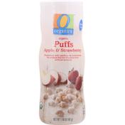 O Organics Puffs, Organic, Apple & Strawberry