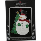 Harvey Lewis Holiday Ornament, Snowman