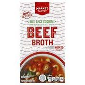 Market Pantry Broth, Beef, Less Sodium