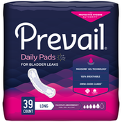 Prevail Incontinence Bladder Control Pads for Women, Maximum Absorbency, Long Length