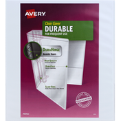 Avery Binder, Durable, Clear Cover, 1 Inch