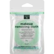 Earth Therapeutics Makeup Removing Cloth, Organic, Celadon/White