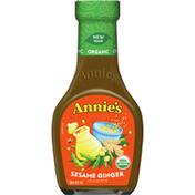 Annie's Sesame Ginger Vinaigrette Dressing, Certified Organic, Non-GMO