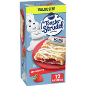 Pillsbury Toaster Strudel, Strawberry, Frozen Pastries, 12 Count