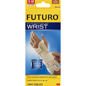 Futuro Wrist Stabilizer, Deluxe, Firm Stabilizing Support, Left Hand, S-M