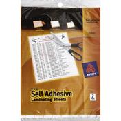 Avery Laminating Sheets, Self Adhesive
