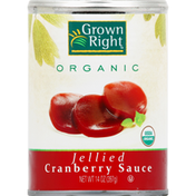 Grown Right Cranberry Sauce, Organic, Jellied