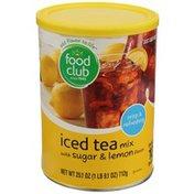 Food Club Lemon Flavor Iced Tea Mix