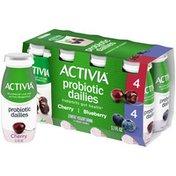 Activia Probiotic Dailies Blueberry & Cherry Yogurt Drink, Variety Pack
