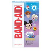 Band-Aid Brand Adhesive Bandages Featuring Disney Emoji, 100% Waterproof, All One Size