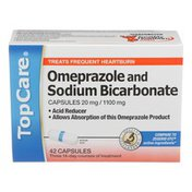 TopCare Omeprazole 20 Mg And Sodium Bicarbonate 1100 Mg Acid Reducer Capsules