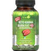 Irwin Naturals Keto-Karma Burn Fat, Red, Liquid Soft-Gels