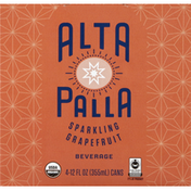 Alta Palla Sparkling Beverage, Grapefruit