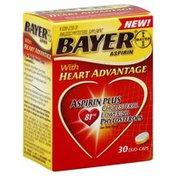 Bayer Aspirin with Heart Advantage, 81 mg, Duo-Caps
