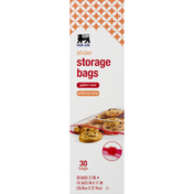 Food Lion Storage Bags, Slider, Write-On Strip, Gallon Size