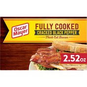 Oscar Mayer Cracked Black Pepper Fully Cooked Thick Cut Bacon