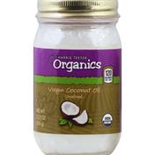 Harris Teeter Organics Coconut Oil, Virgin, Unrefined