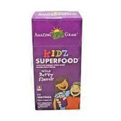 Amazing Grass KIDZ Superfood Greens, fruits and veggies for healthy kids PACKETS, BERRY BLAST