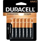 Duracell Batteries, Alkaline, AAA, 1.5 V, 12 Pack