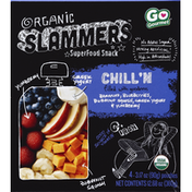 Slammers Chill'N Fruit & Yogurt Filled Pouches Organic Superfood Snack