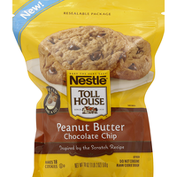 Toll House Nestle Peanut Butter Chocolate Chip Cookie Dough 16 Oz Instacart