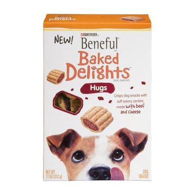 Beneful Purina Beneful Baked Delights Dog Snacks Hugs Beef & Cheese