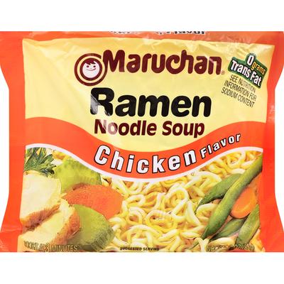Maruchan Soup, Ramen Noodle, Chicken Flavor