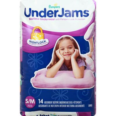 Pampers Underjams Bedtime Underwear Girls Size S/M