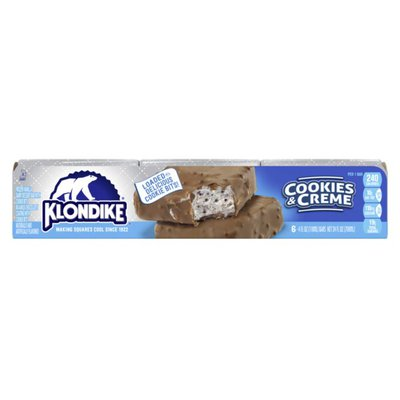 Klondike Frozen Dairy Dessert Bars Oreo