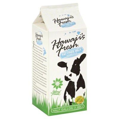 Hawaiis Fresh Milk, Fat Free, Vitamin A & D, Carton