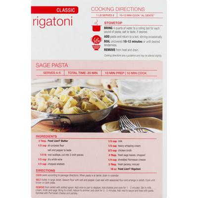 Food Lion Pasta, Rigatoni, Classic, Box