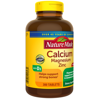 Nature Made Calcium, Magnesium Oxide, Zinc with Vitamin D3 Tablets