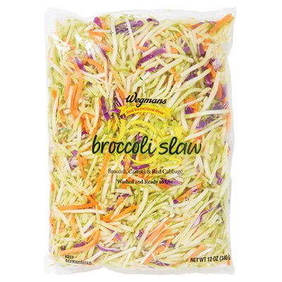 Wegmans Food You Feel Good About Cleaned and Cut Broccoli Slaw