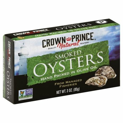 Crown Prince Oysters, Smoked